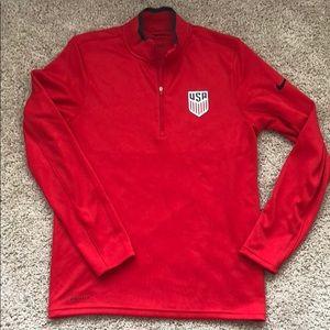 Nike USA/US Soccer 1/2 Zip -New